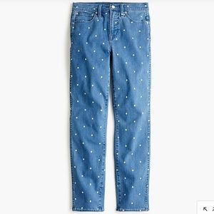 J.Crew Vintage Straight Jeans in Scattered Dot👖